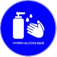 Handen desinfecteren voor gebruik van voorzieningen...
